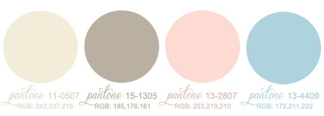 palette colori partecipazioni di matrimonio vintage anni 30