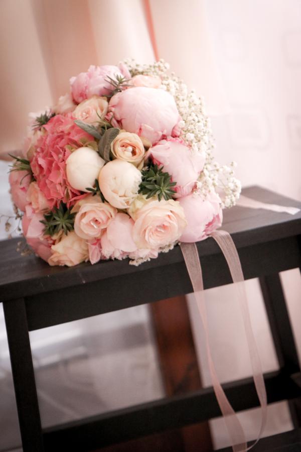 abbastanza Bouquet sposa romantico con peonie e ortensie | My Wedding MY66