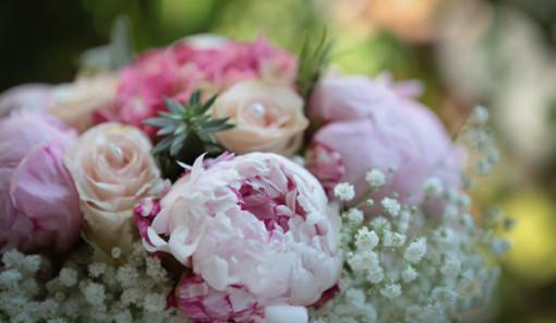 peonie rosa i fiori adatti a un matrimonio in giugno